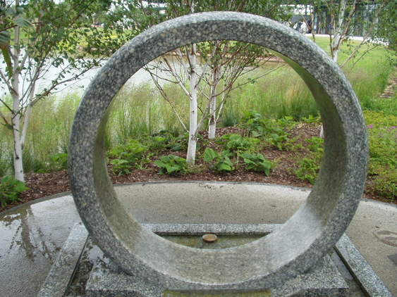 Stone Ring Fountain Stone Ball Fountain Kugelbrunnen