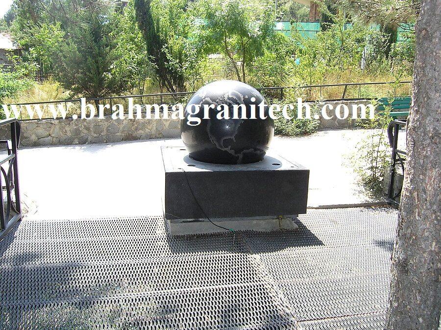 Schwimmende Kugel Stone Ball Fountain Kugelbrunnen